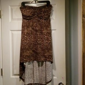 Cheetah print hi-low dress